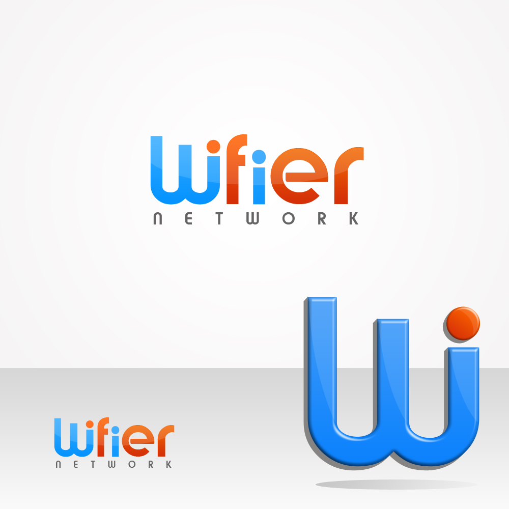 Logo Design by omARTist - Entry No. 30 in the Logo Design Contest New Logo Design for Wifier Network.