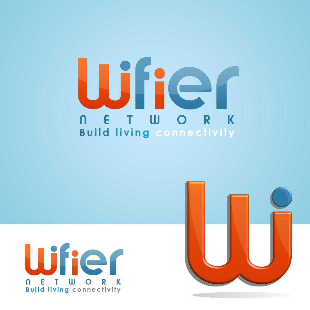 Logo Design by omARTist - Entry No. 34 in the Logo Design Contest New Logo Design for Wifier Network.