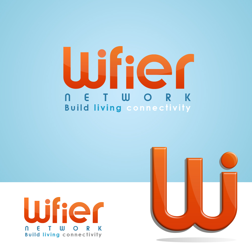 Logo Design by omARTist - Entry No. 35 in the Logo Design Contest New Logo Design for Wifier Network.