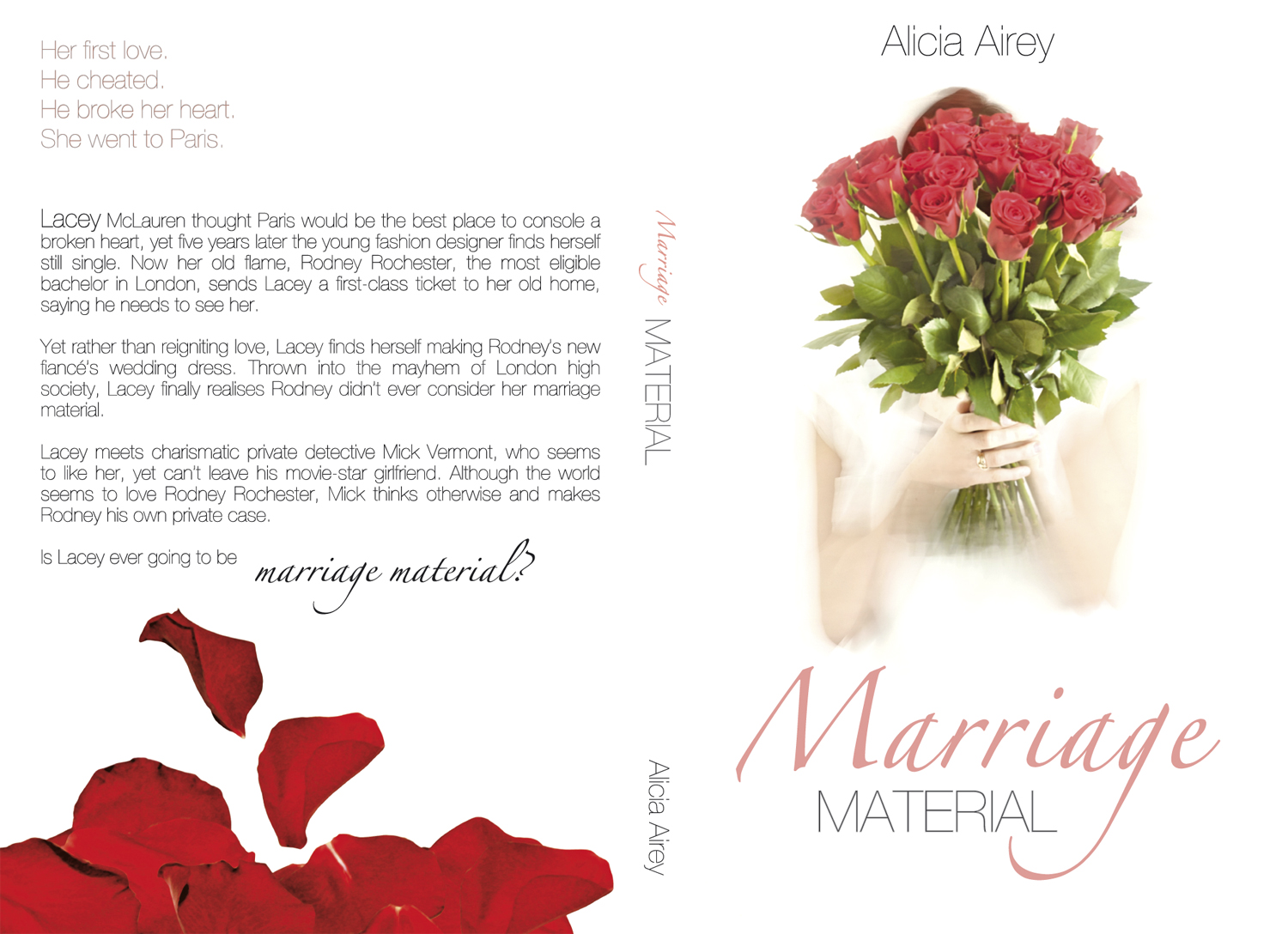 Book Cover Design by Tomasz Wieja - Entry No. 1 in the Book Cover Design Contest Book Cover Design for Chic Lit Novel: Marriage Material.