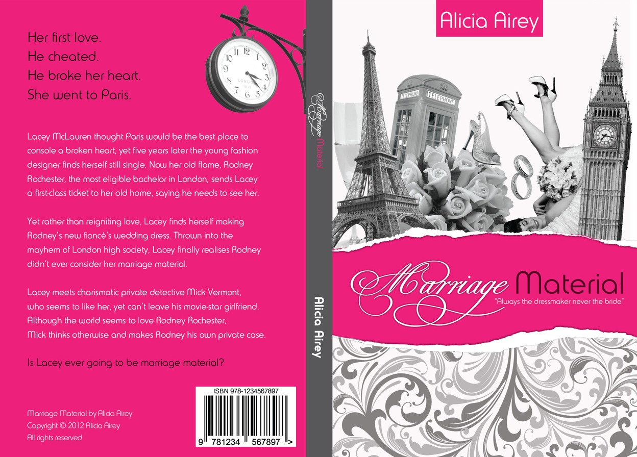 New Book Cover Design ~ Book cover design for chic lit novel marriage material