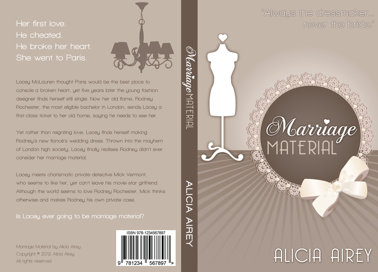 Book Cover Design by nausigeo - Entry No. 3 in the Book Cover Design Contest Book Cover Design for Chic Lit Novel: Marriage Material.