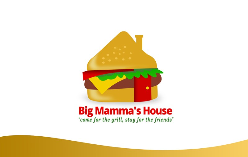 Logo Design by Respati Himawan - Entry No. 4 in the Logo Design Contest Captivating Logo Design for Big Mamma's House.