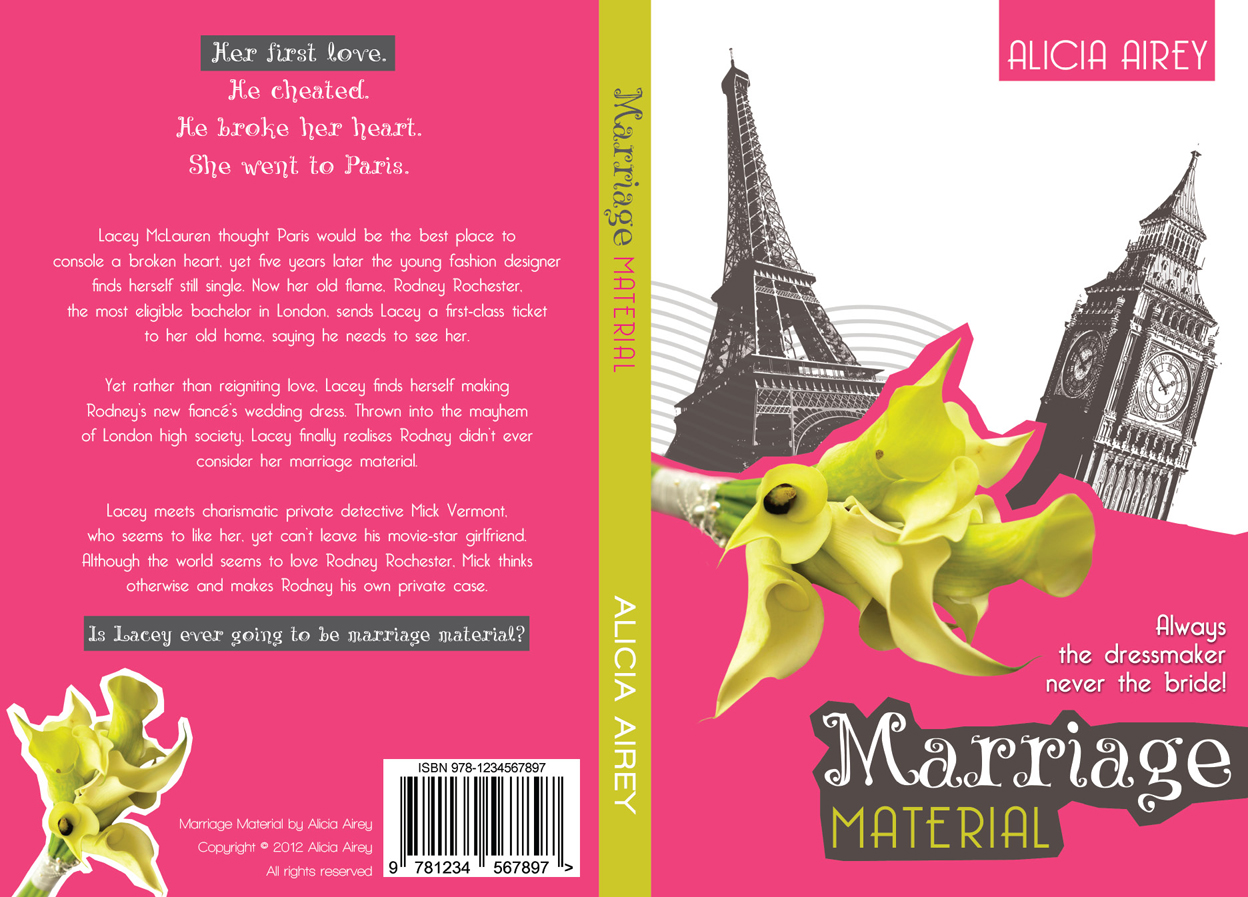 Book Cover Design by nausigeo - Entry No. 4 in the Book Cover Design Contest Book Cover Design for Chic Lit Novel: Marriage Material.