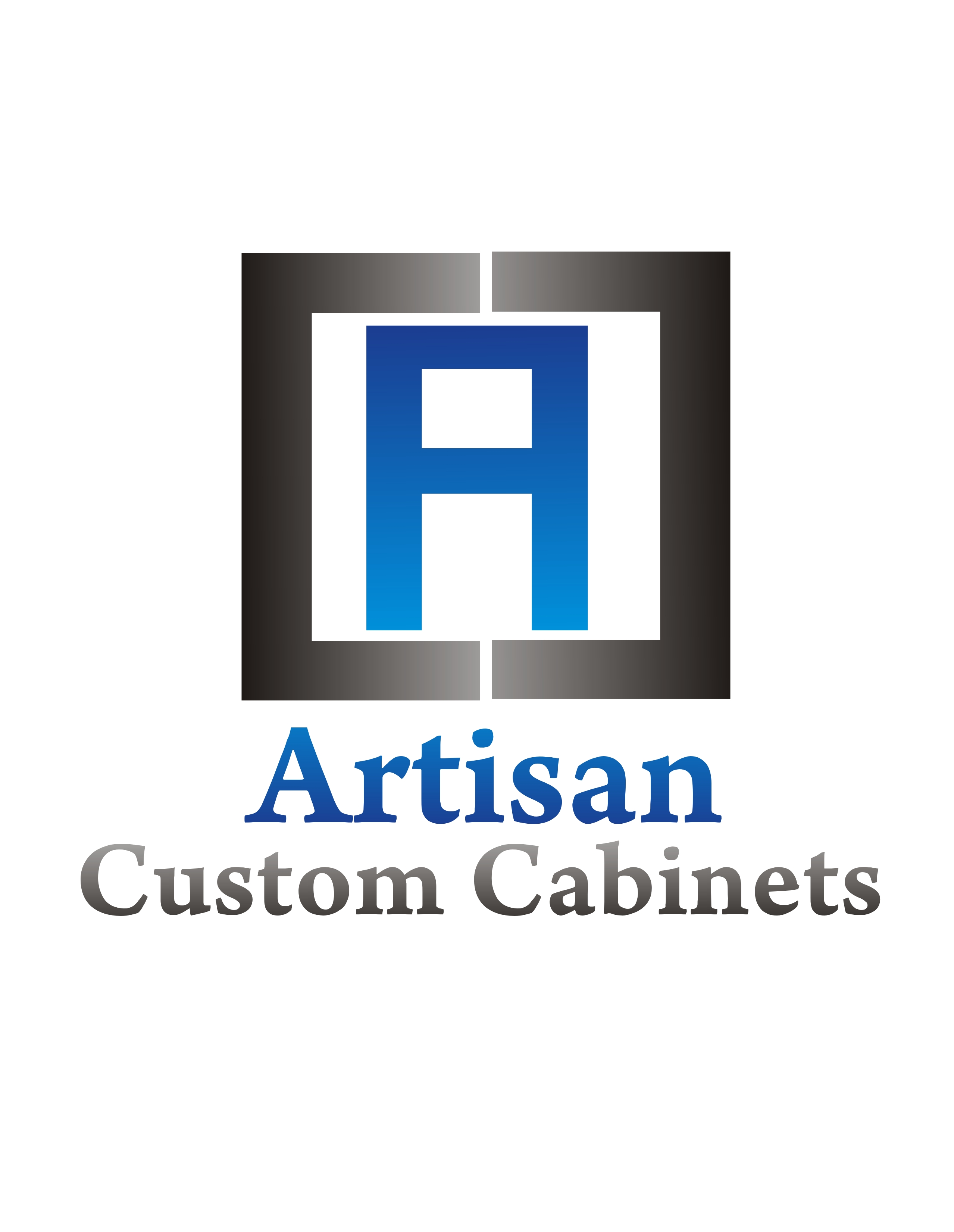Logo Design by Private User - Entry No. 22 in the Logo Design Contest Creative Logo Design for Artisan Custom Cabinets.