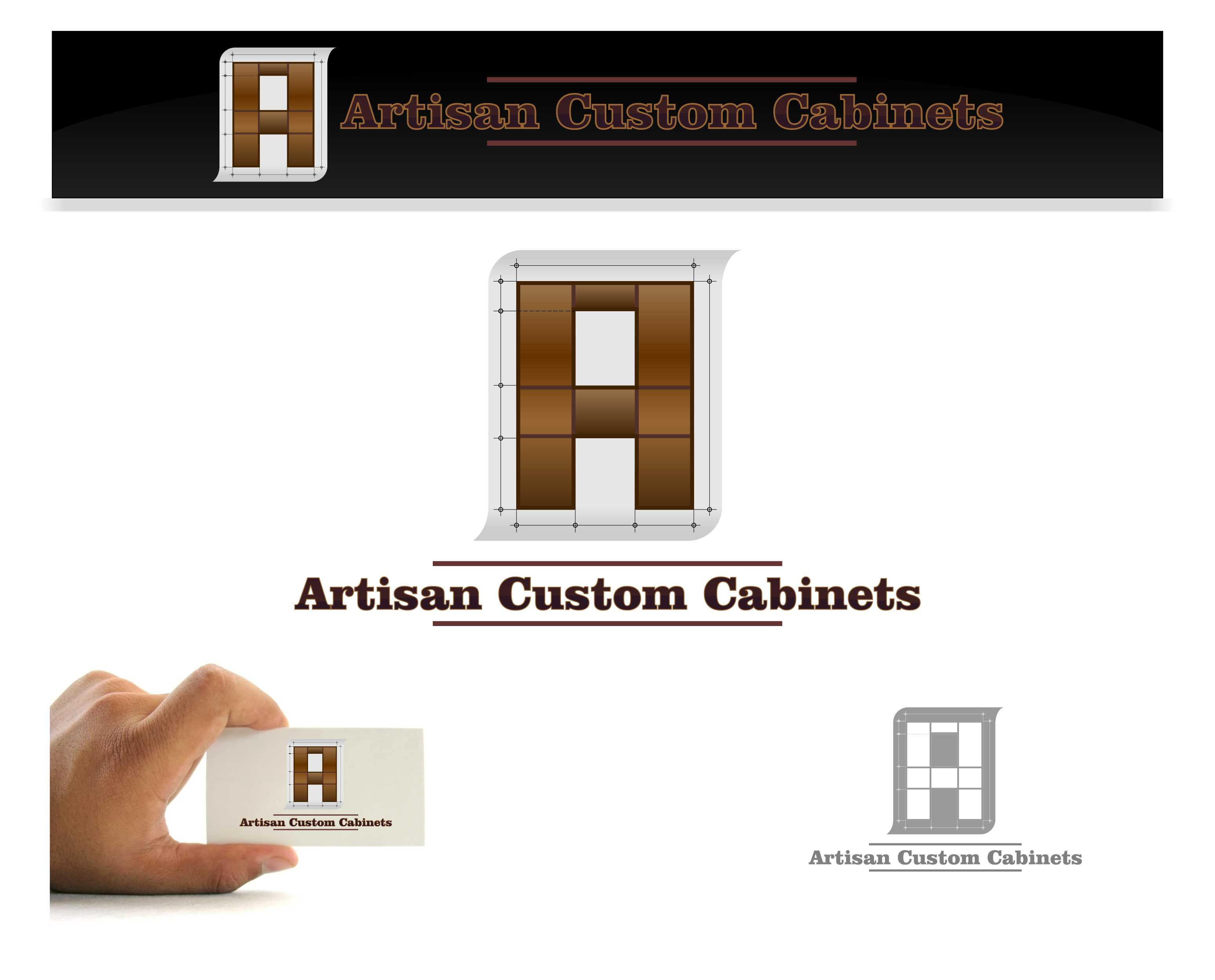 Logo Design by joca - Entry No. 31 in the Logo Design Contest Creative Logo Design for Artisan Custom Cabinets.