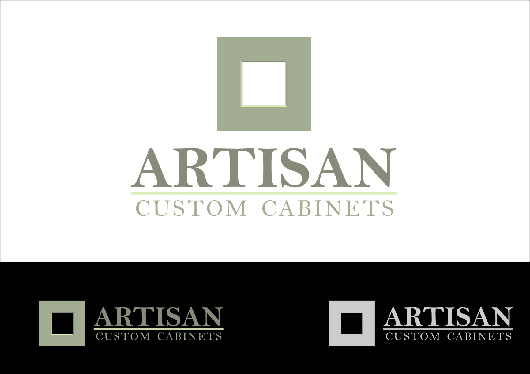 Logo Design by RasYa Muhammad Athaya - Entry No. 33 in the Logo Design Contest Creative Logo Design for Artisan Custom Cabinets.