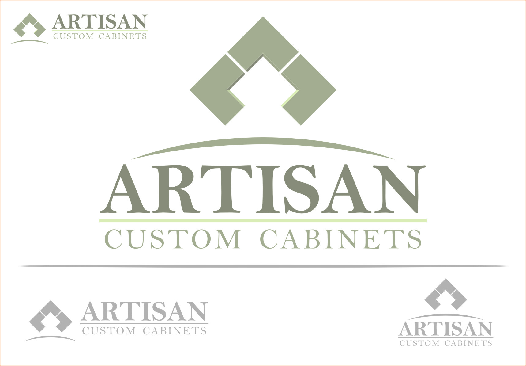 Logo Design by Ngepet_art - Entry No. 34 in the Logo Design Contest Creative Logo Design for Artisan Custom Cabinets.