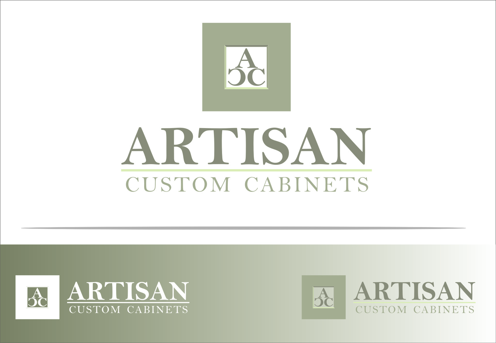 Logo Design by RoSyid Rono-Rene On Java - Entry No. 35 in the Logo Design Contest Creative Logo Design for Artisan Custom Cabinets.