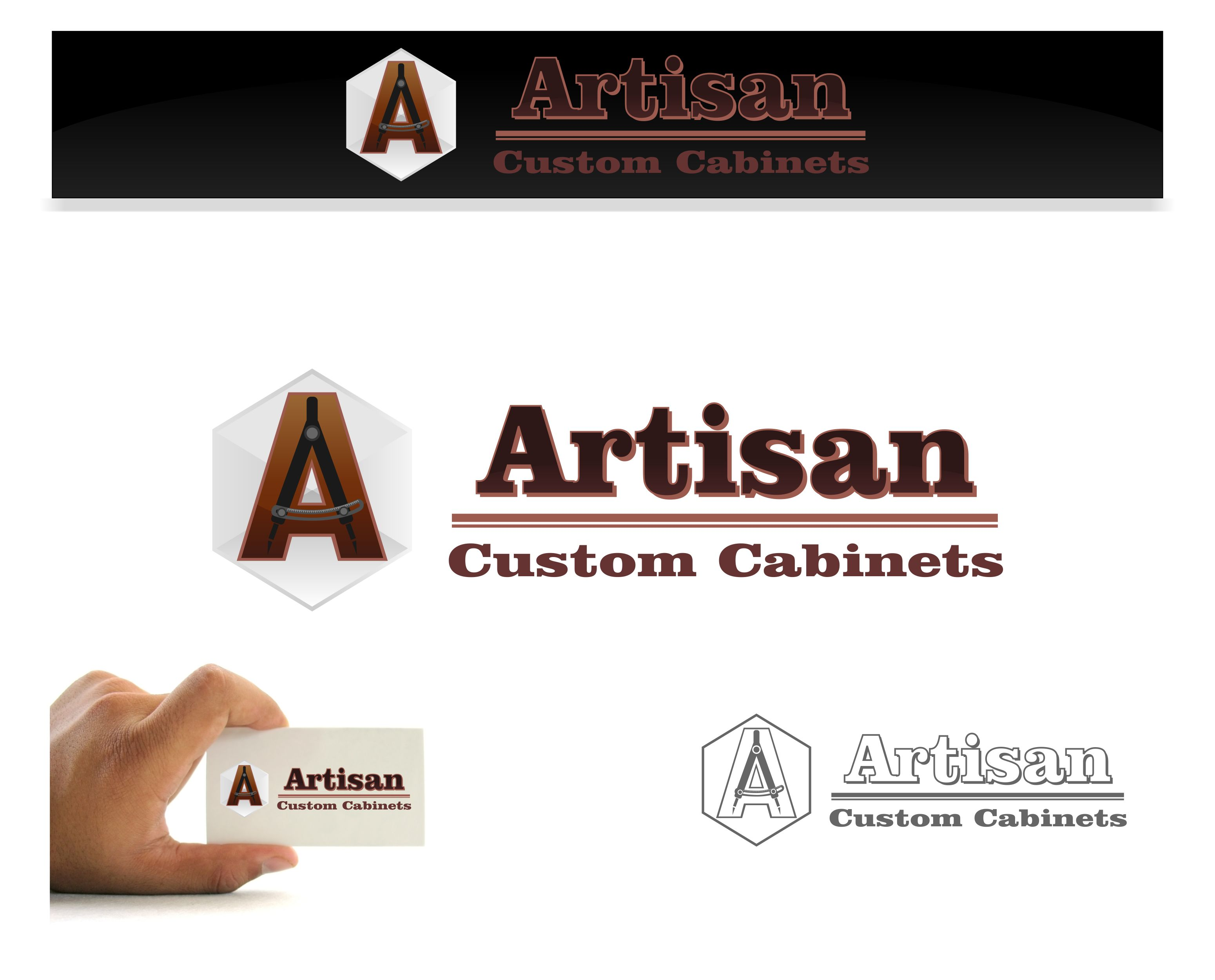 Logo Design by joca - Entry No. 38 in the Logo Design Contest Creative Logo Design for Artisan Custom Cabinets.