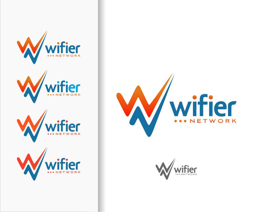 Logo Design by graphicleaf - Entry No. 83 in the Logo Design Contest New Logo Design for Wifier Network.