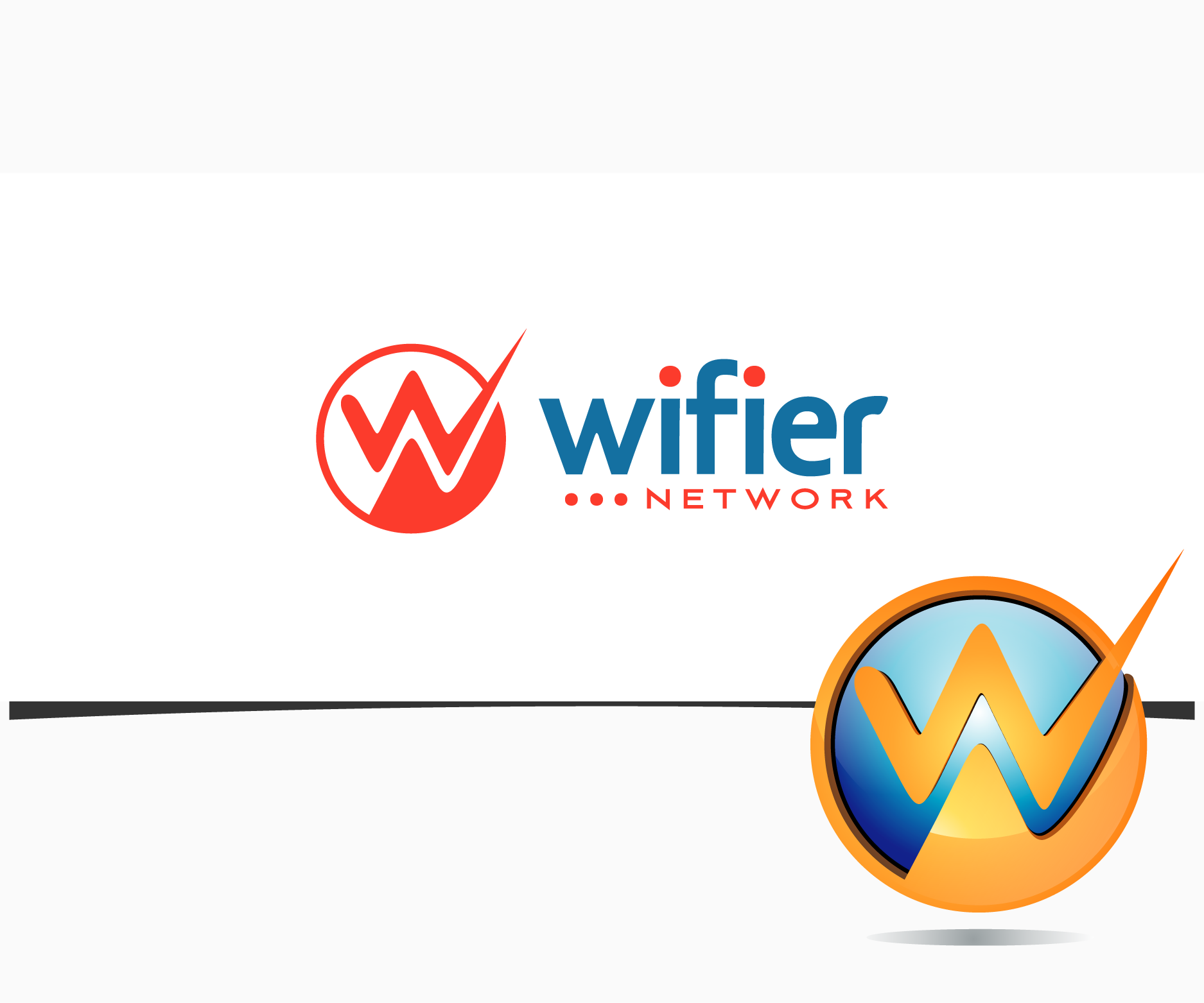 Logo Design by graphicleaf - Entry No. 85 in the Logo Design Contest New Logo Design for Wifier Network.