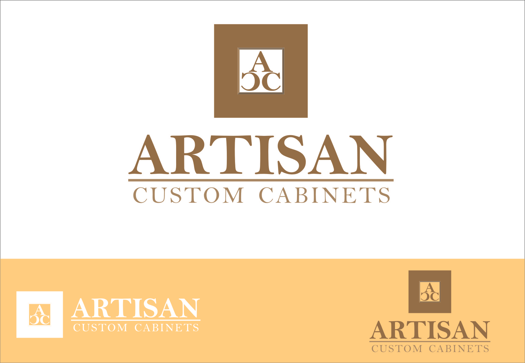 Logo Design by RasYa Muhammad Athaya - Entry No. 53 in the Logo Design Contest Creative Logo Design for Artisan Custom Cabinets.