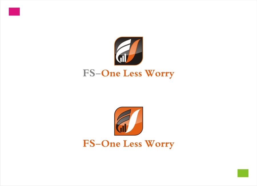 Logo Design by Private User - Entry No. 7 in the Logo Design Contest Creative Logo Design for FS - One Less Worry.