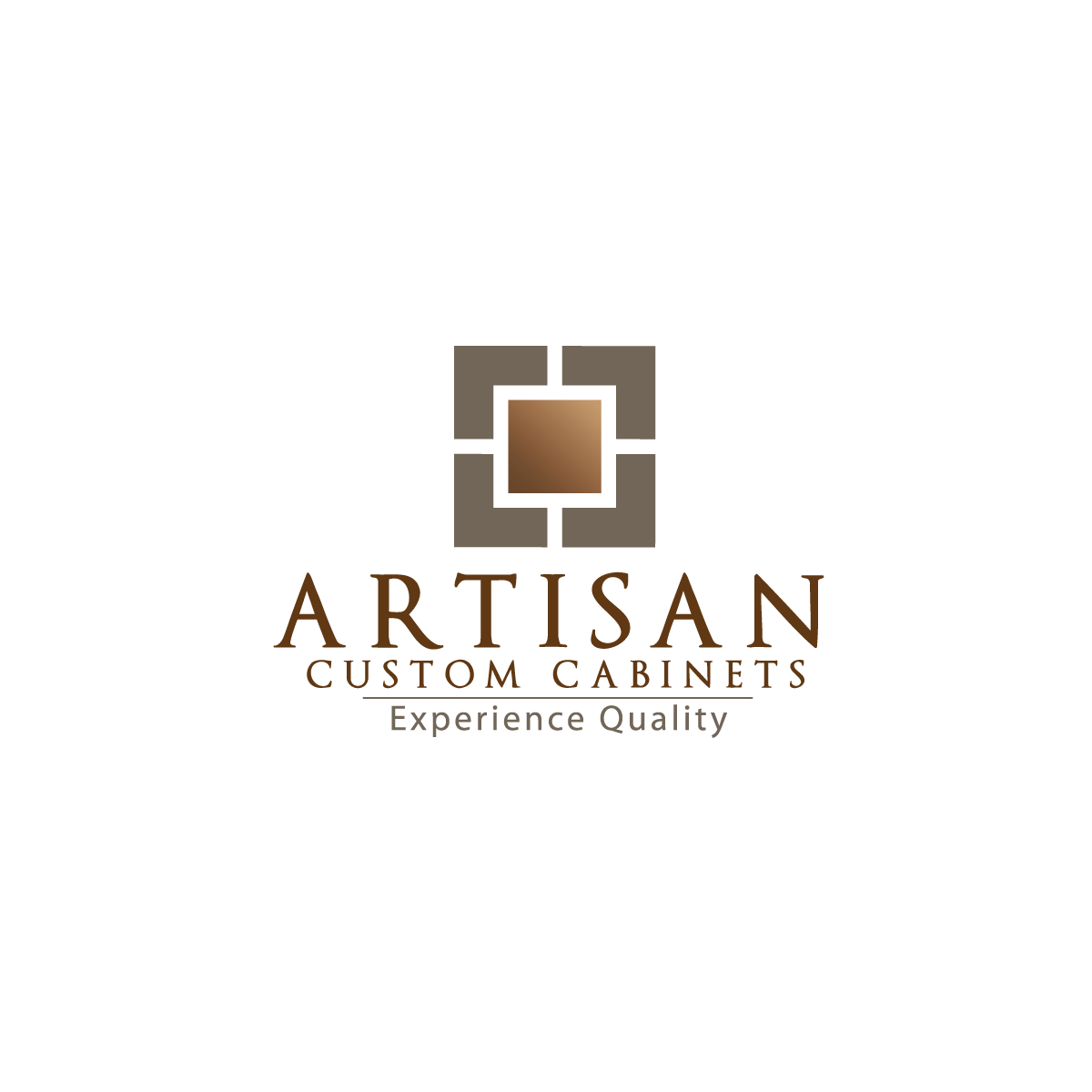 Logo Design by rockin - Entry No. 71 in the Logo Design Contest Creative Logo Design for Artisan Custom Cabinets.
