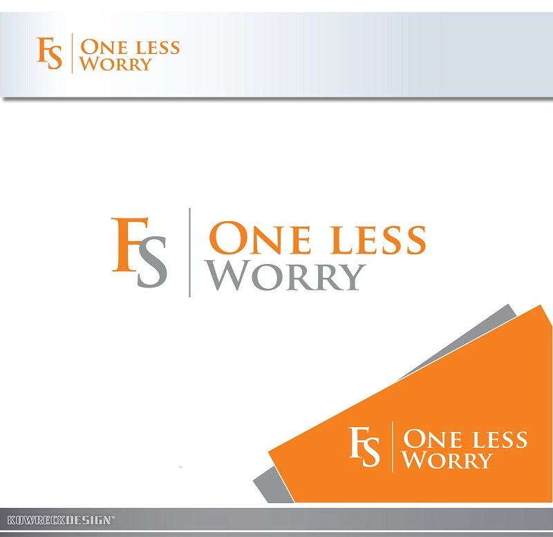 Logo Design by kowreck - Entry No. 8 in the Logo Design Contest Creative Logo Design for FS - One Less Worry.