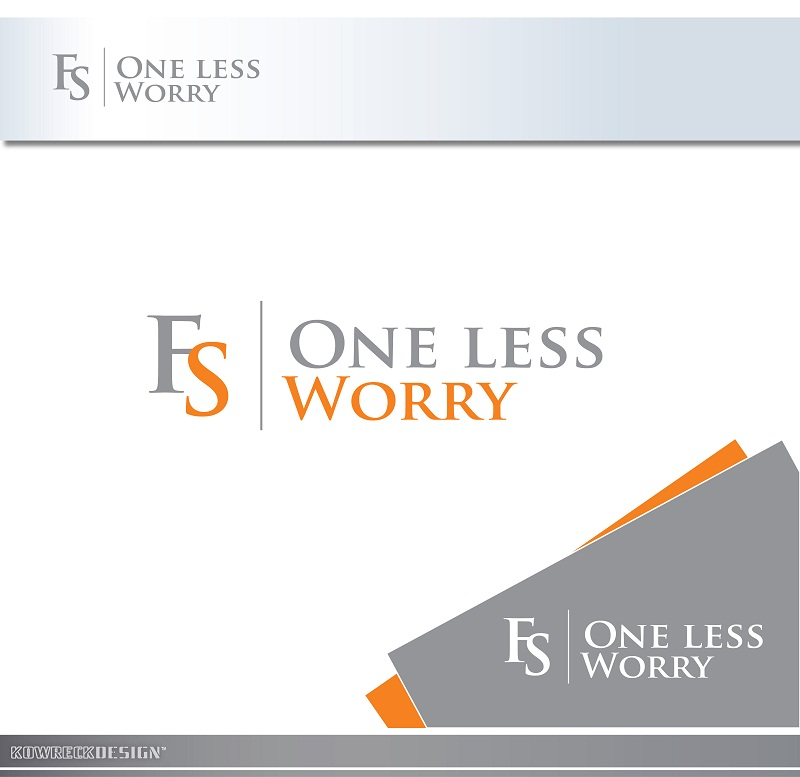 Logo Design by kowreck - Entry No. 9 in the Logo Design Contest Creative Logo Design for FS - One Less Worry.