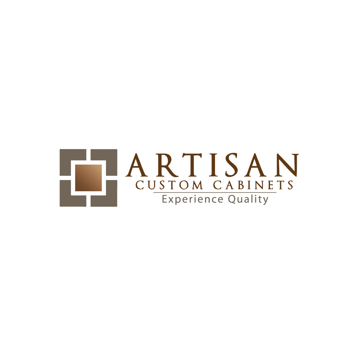 Logo Design by rockin - Entry No. 75 in the Logo Design Contest Creative Logo Design for Artisan Custom Cabinets.