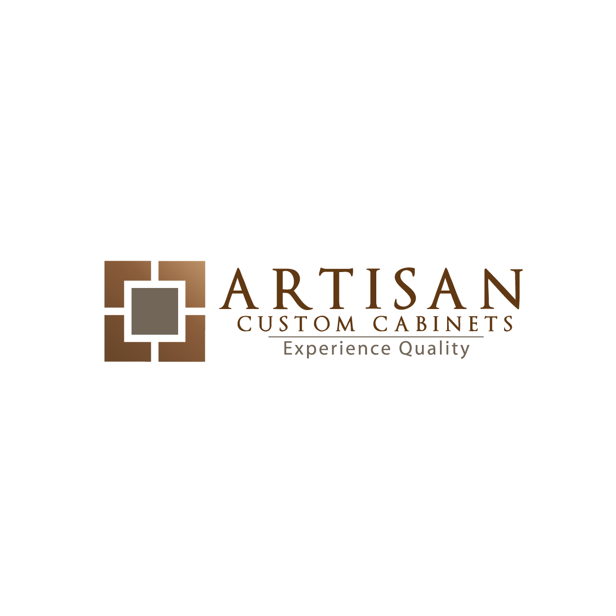 Logo Design by rockin - Entry No. 82 in the Logo Design Contest Creative Logo Design for Artisan Custom Cabinets.