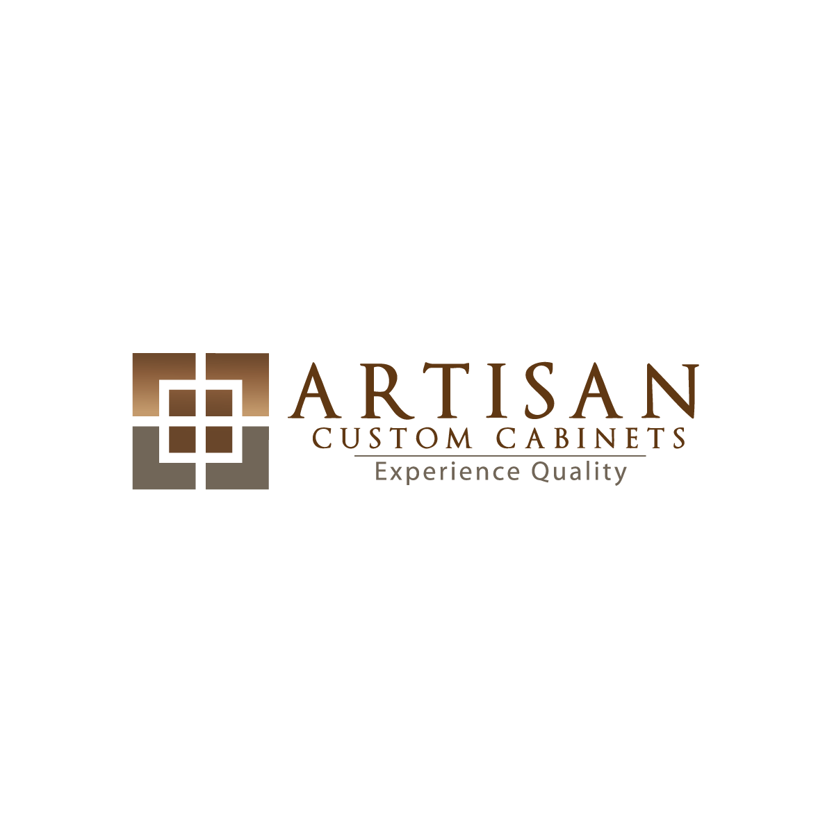 Logo Design by rockin - Entry No. 84 in the Logo Design Contest Creative Logo Design for Artisan Custom Cabinets.