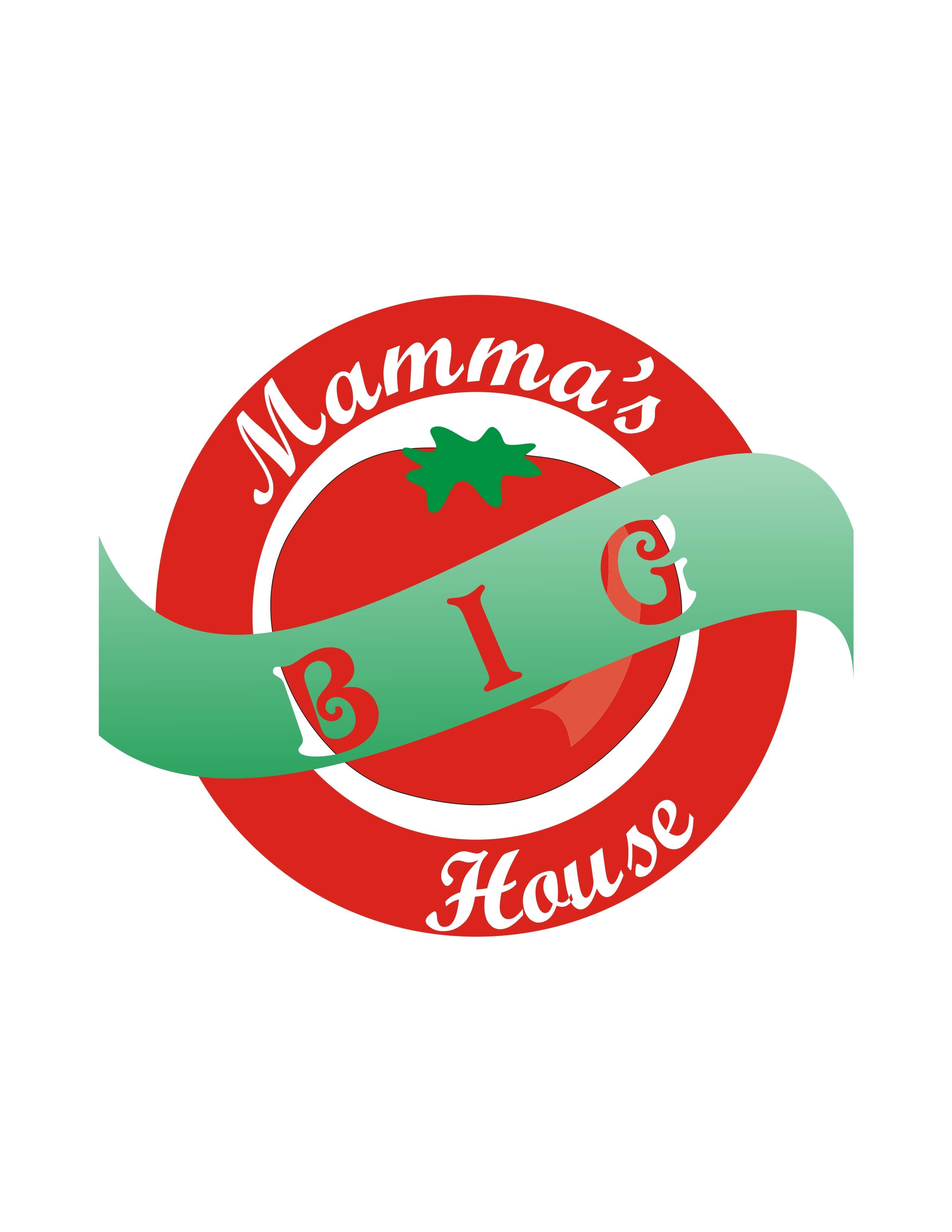 Logo Design by Private User - Entry No. 23 in the Logo Design Contest Captivating Logo Design for Big Mamma's House.