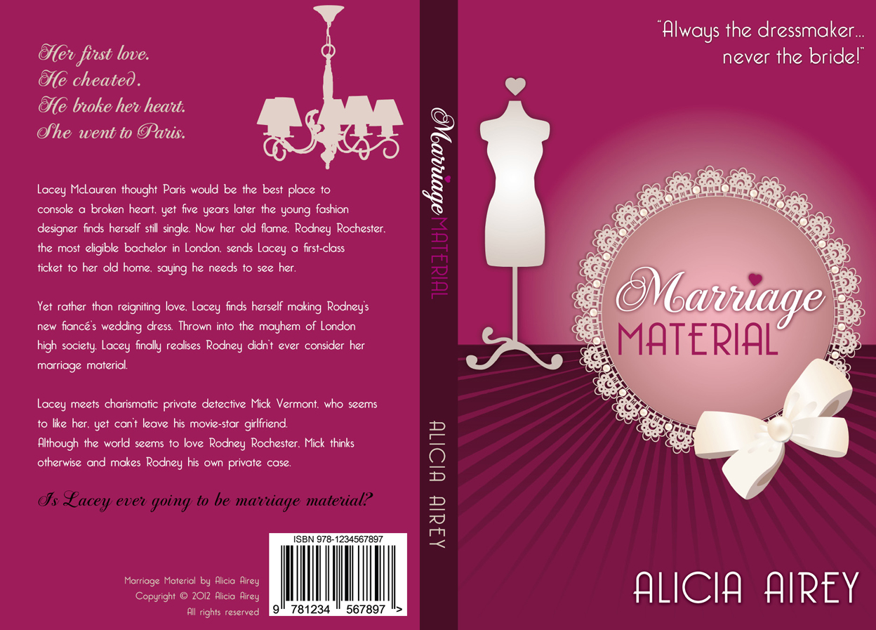 Book Cover Design Materials ~ Book cover design for chic lit novel marriage material