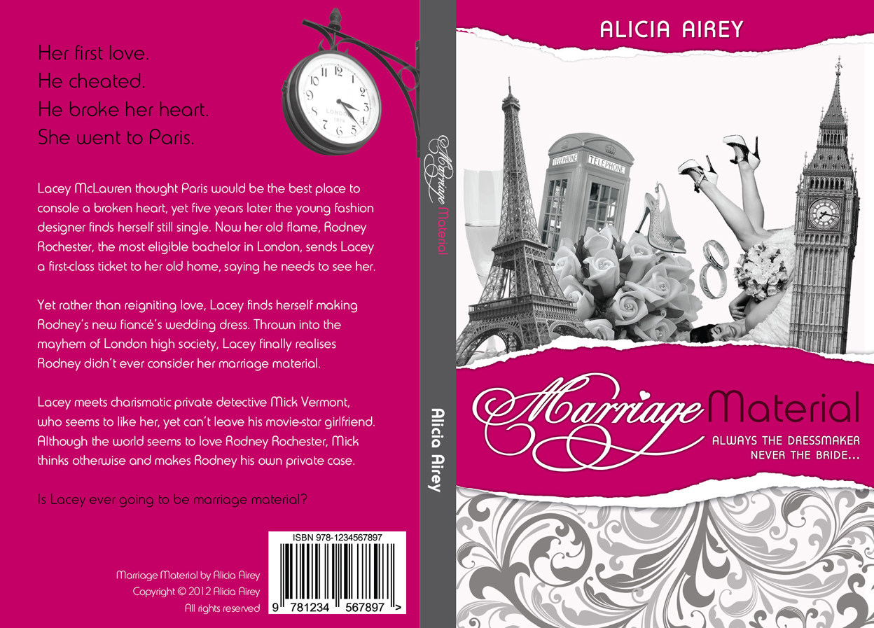 Book Cover Design by nausigeo - Entry No. 9 in the Book Cover Design Contest Book Cover Design for Chic Lit Novel: Marriage Material.