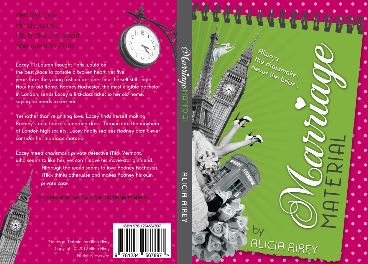 Book Cover Design by nausigeo - Entry No. 11 in the Book Cover Design Contest Book Cover Design for Chic Lit Novel: Marriage Material.