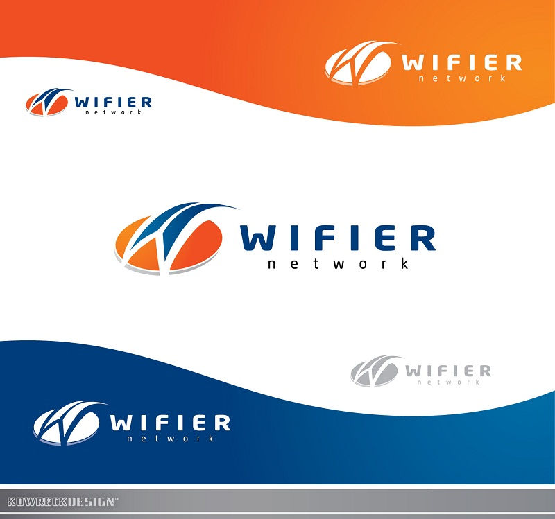 Logo Design by kowreck - Entry No. 132 in the Logo Design Contest New Logo Design for Wifier Network.