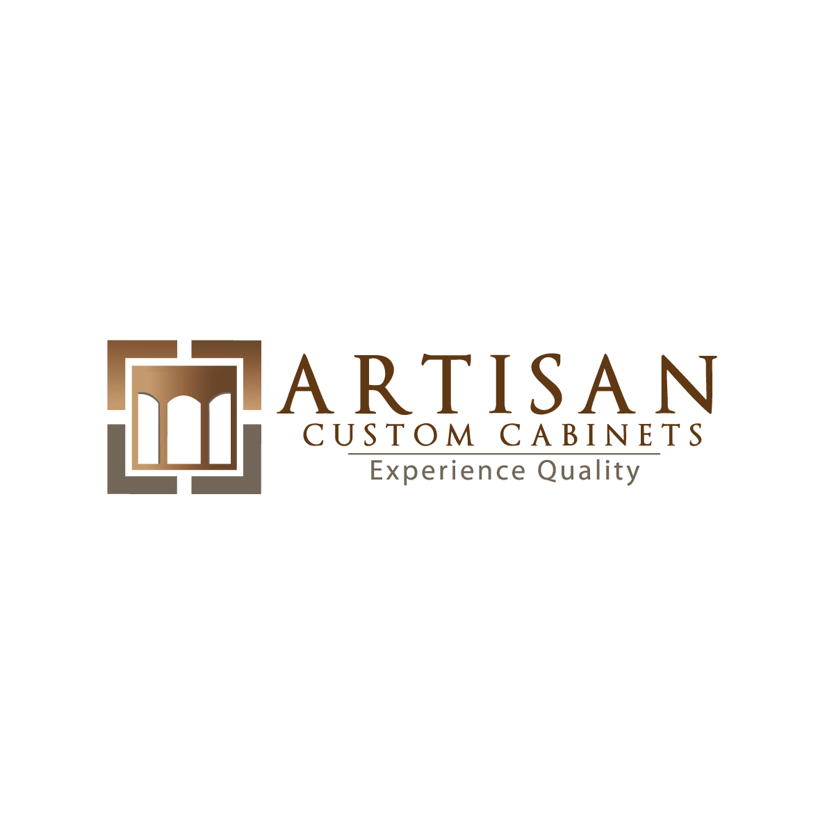 Logo Design by rockin - Entry No. 105 in the Logo Design Contest Creative Logo Design for Artisan Custom Cabinets.