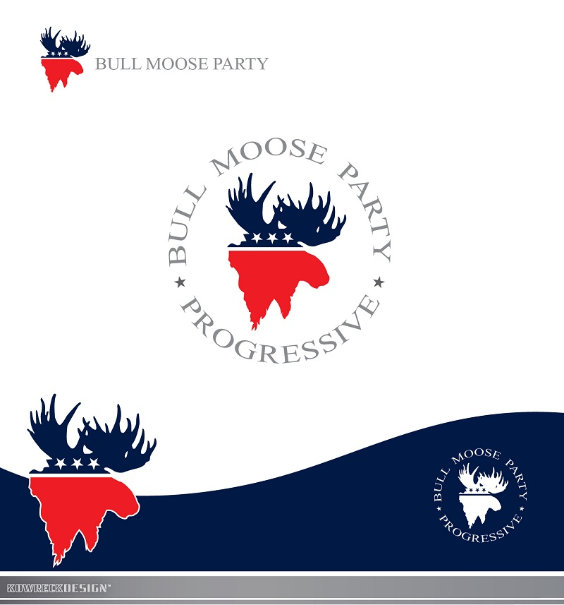 Logo Design by kowreck - Entry No. 1 in the Logo Design Contest Progressive Bull Moose Party Logo Design.