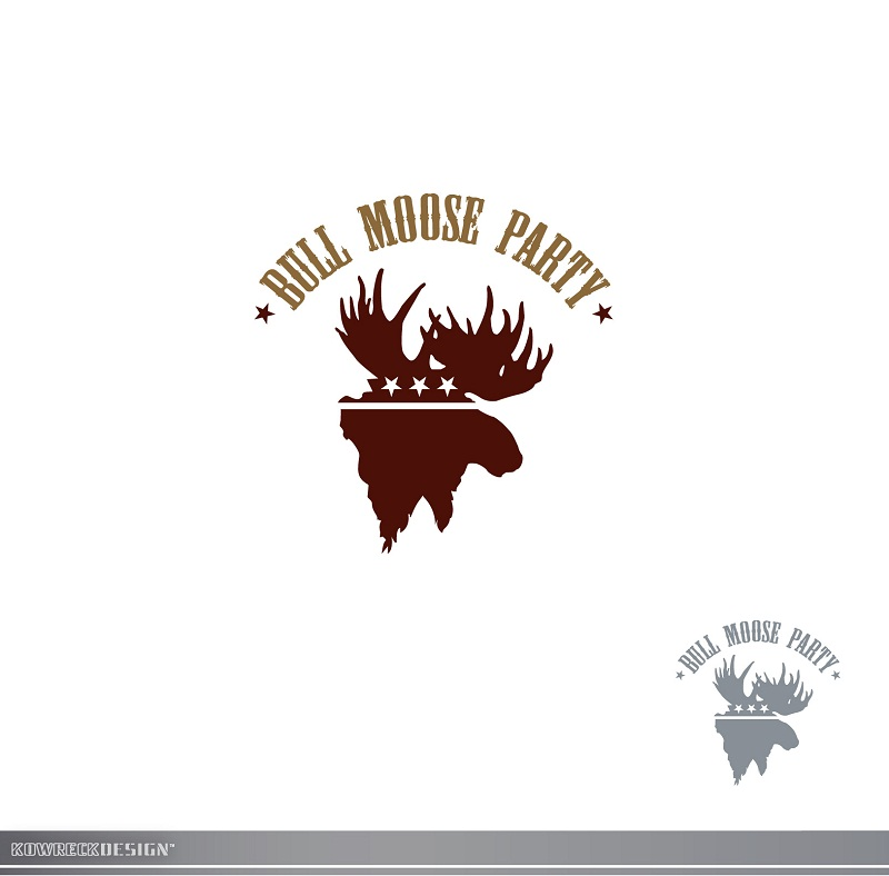 Logo Design by kowreck - Entry No. 2 in the Logo Design Contest Progressive Bull Moose Party Logo Design.