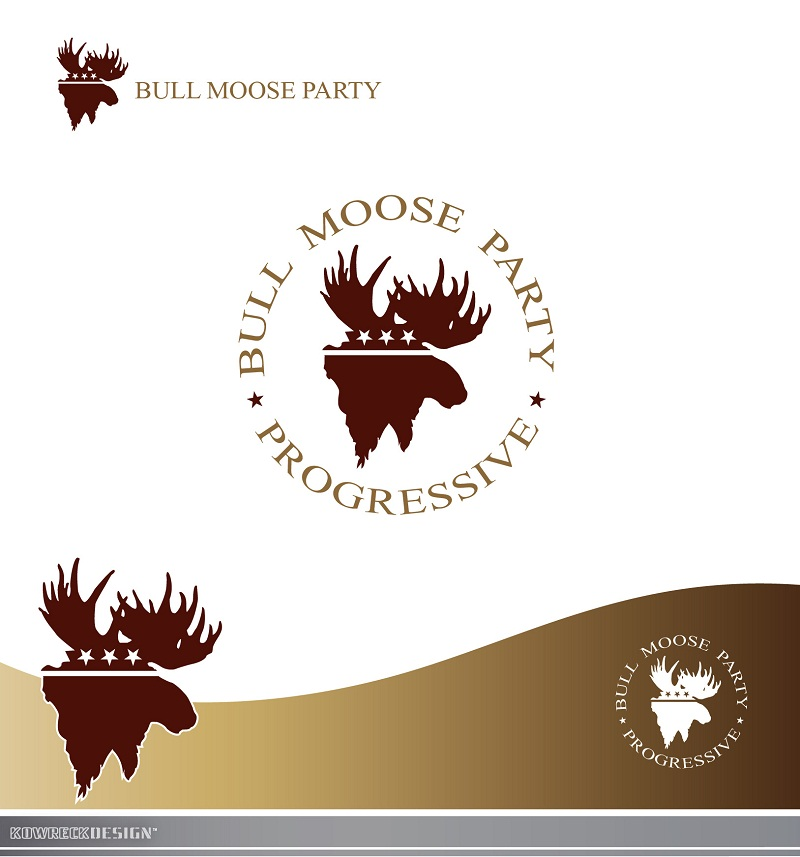 Logo Design by kowreck - Entry No. 3 in the Logo Design Contest Progressive Bull Moose Party Logo Design.