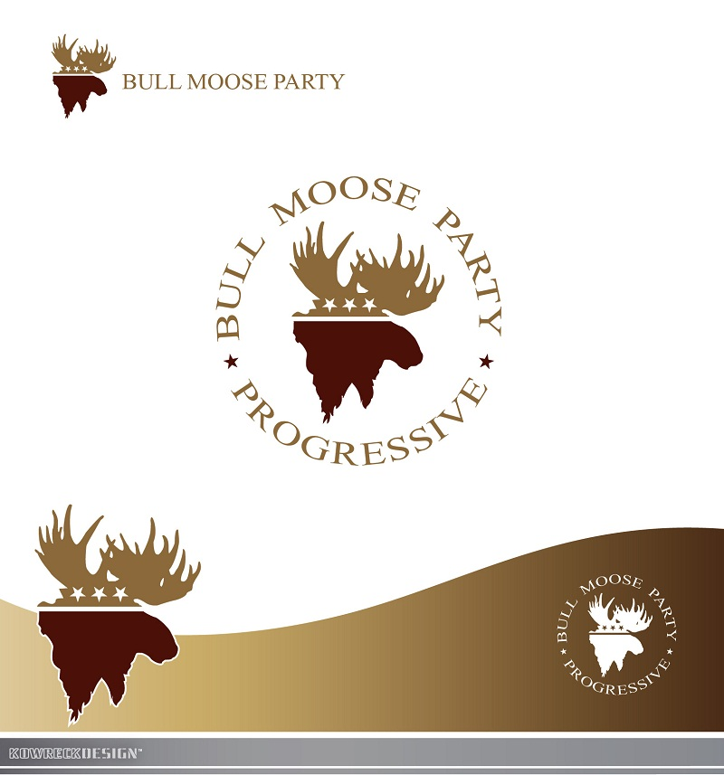Logo Design by kowreck - Entry No. 4 in the Logo Design Contest Progressive Bull Moose Party Logo Design.