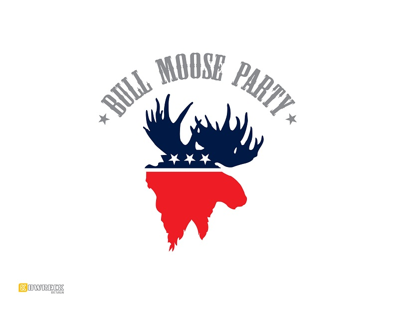 Logo Design by kowreck - Entry No. 5 in the Logo Design Contest Progressive Bull Moose Party Logo Design.