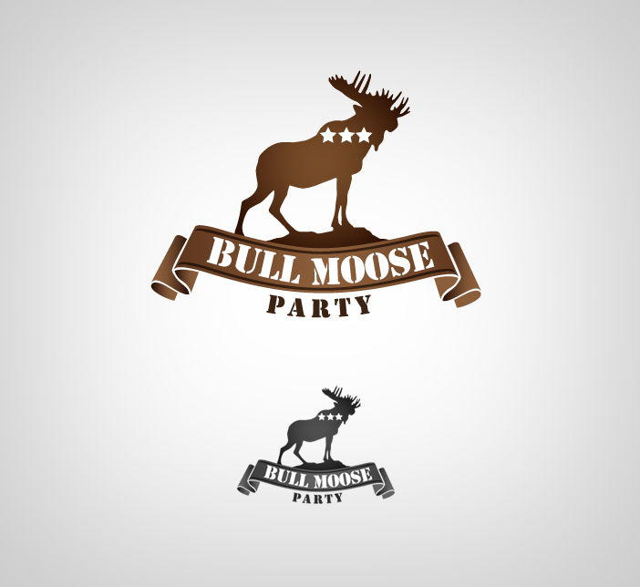 Logo Design by nausigeo - Entry No. 7 in the Logo Design Contest Progressive Bull Moose Party Logo Design.