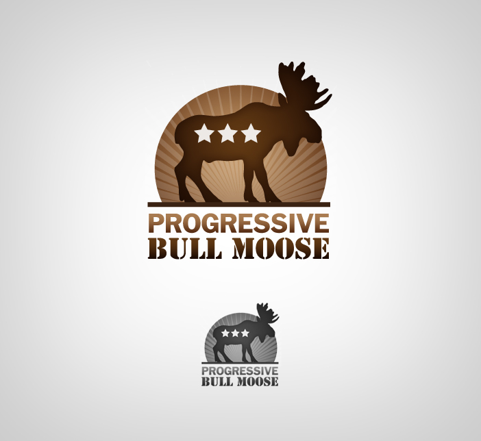 Logo Design by nausigeo - Entry No. 8 in the Logo Design Contest Progressive Bull Moose Party Logo Design.