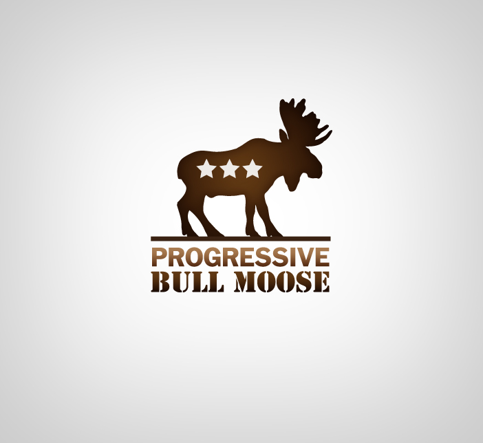 Logo Design by nausigeo - Entry No. 9 in the Logo Design Contest Progressive Bull Moose Party Logo Design.