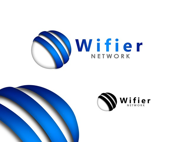 Logo Design by Respati Himawan - Entry No. 152 in the Logo Design Contest New Logo Design for Wifier Network.