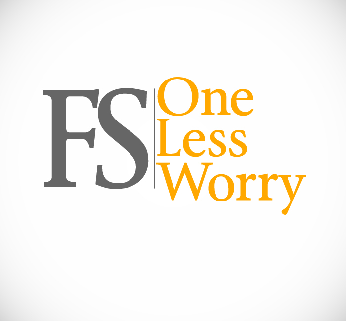 Logo Design by Bobby Yoga P - Entry No. 32 in the Logo Design Contest Creative Logo Design for FS - One Less Worry.