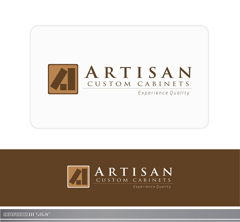 Logo Design by kowreck - Entry No. 127 in the Logo Design Contest Creative Logo Design for Artisan Custom Cabinets.