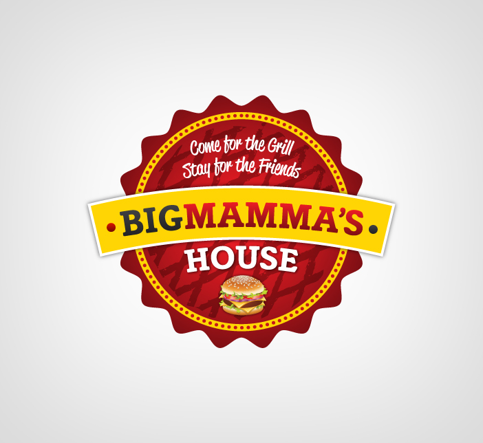 Logo Design by Dimitris Koletsis - Entry No. 34 in the Logo Design Contest Captivating Logo Design for Big Mamma's House.
