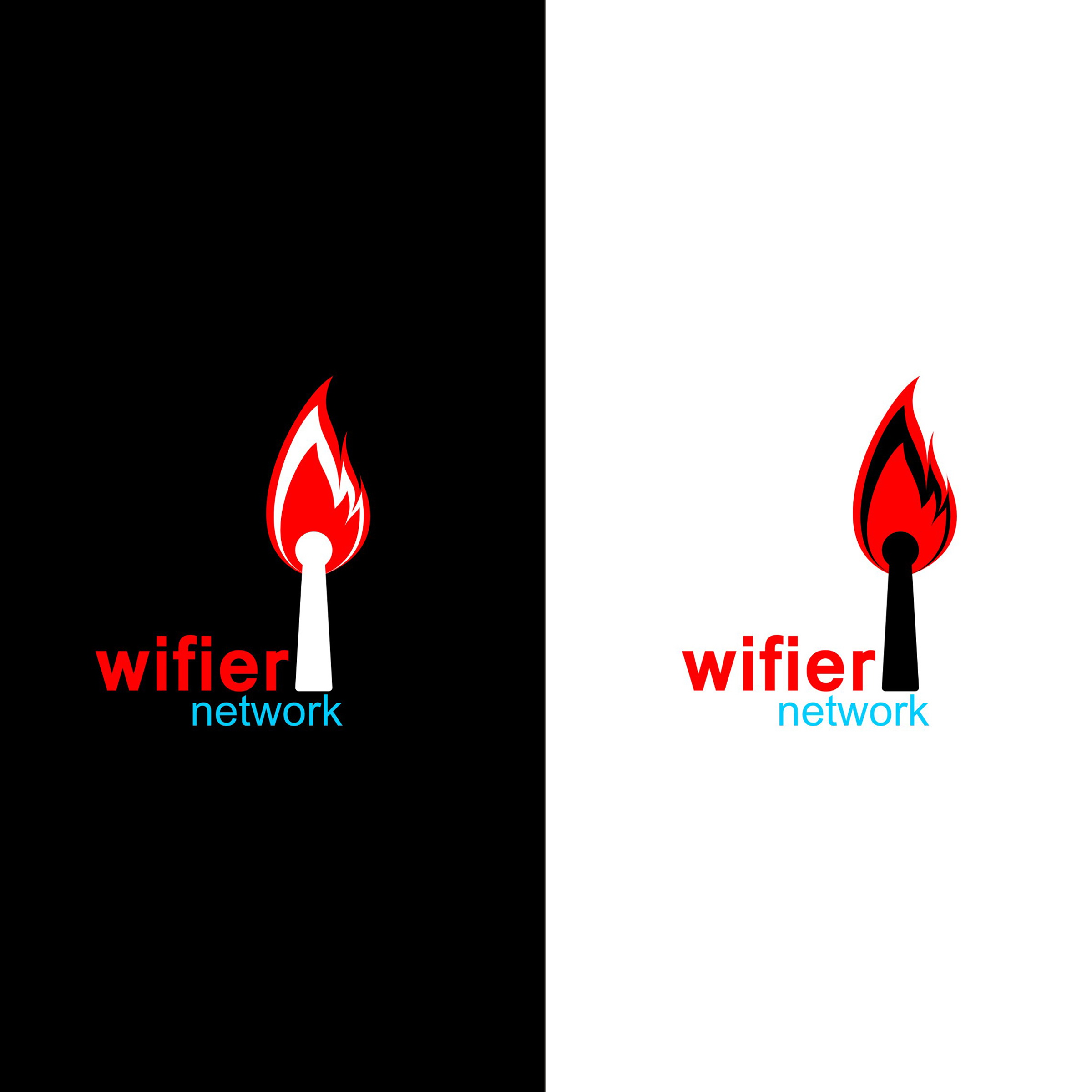 Logo Design by Denis Vidanov - Entry No. 172 in the Logo Design Contest New Logo Design for Wifier Network.