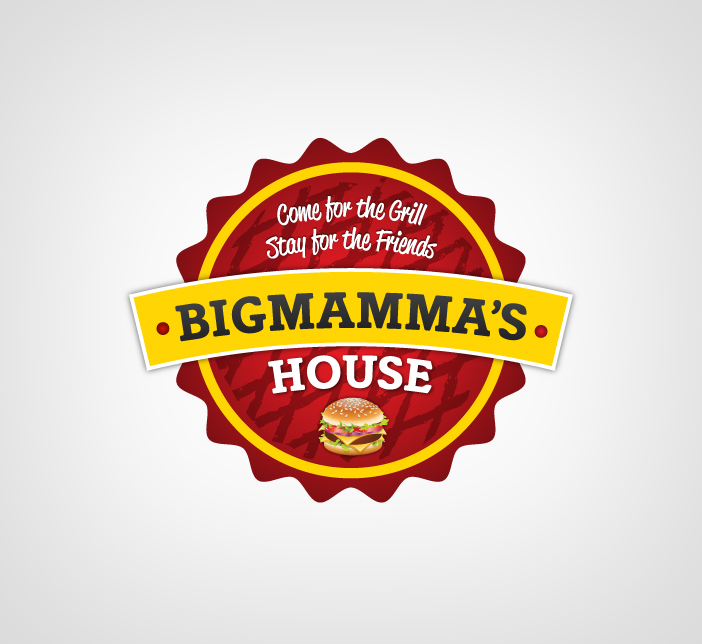 Logo Design by Dimitris Koletsis - Entry No. 35 in the Logo Design Contest Captivating Logo Design for Big Mamma's House.