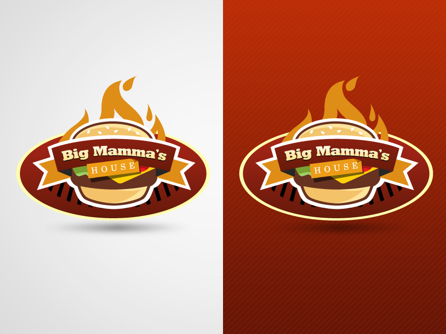 Logo Design by jpbituin - Entry No. 42 in the Logo Design Contest Captivating Logo Design for Big Mamma's House.