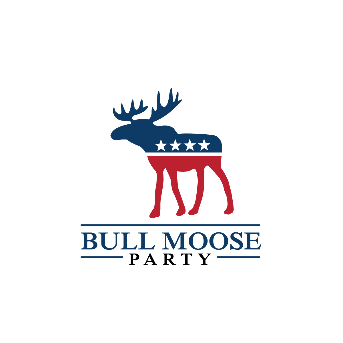 Logo Design by rockin - Entry No. 15 in the Logo Design Contest Progressive Bull Moose Party Logo Design.