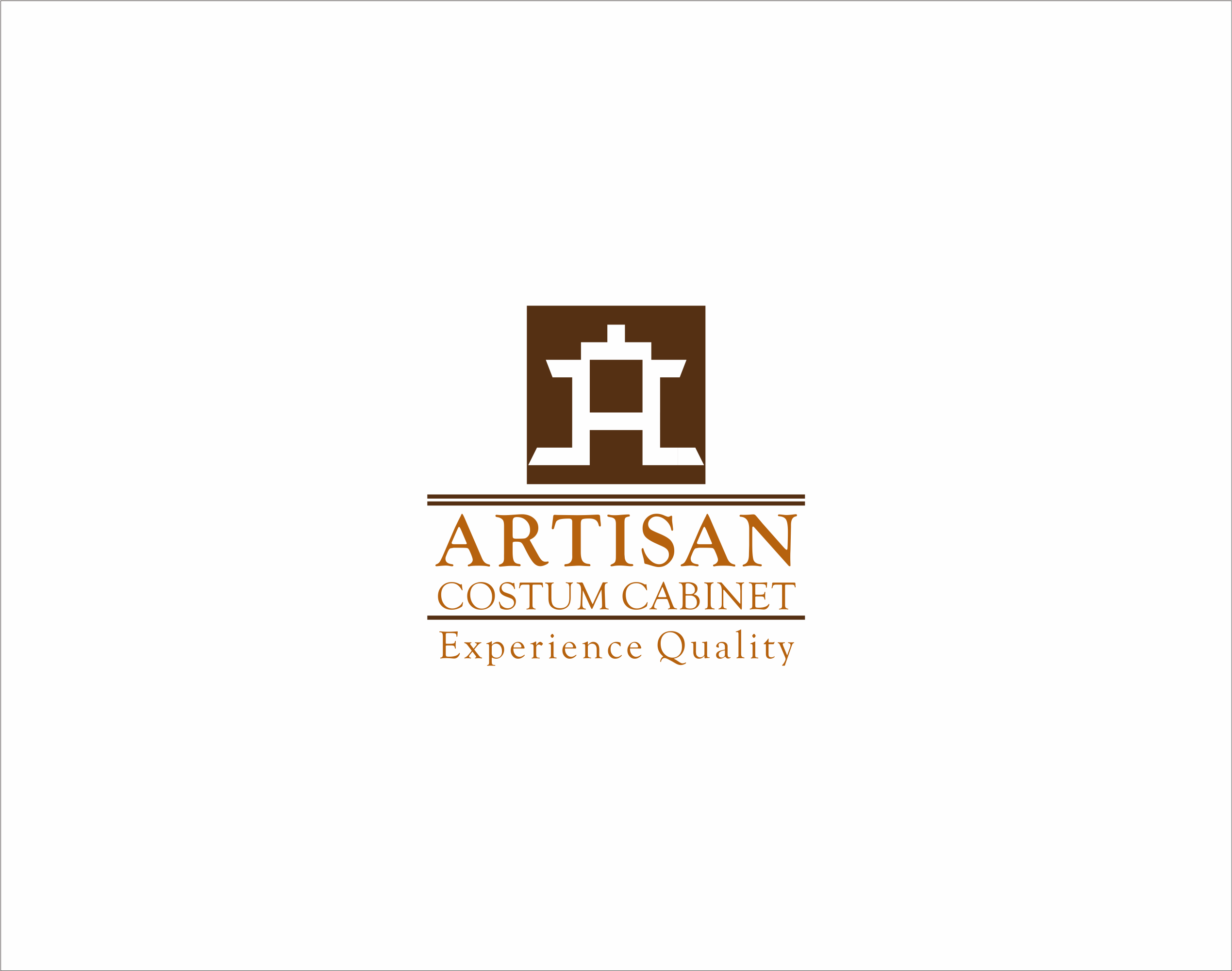 Logo Design by Armada Jamaluddin - Entry No. 155 in the Logo Design Contest Creative Logo Design for Artisan Custom Cabinets.