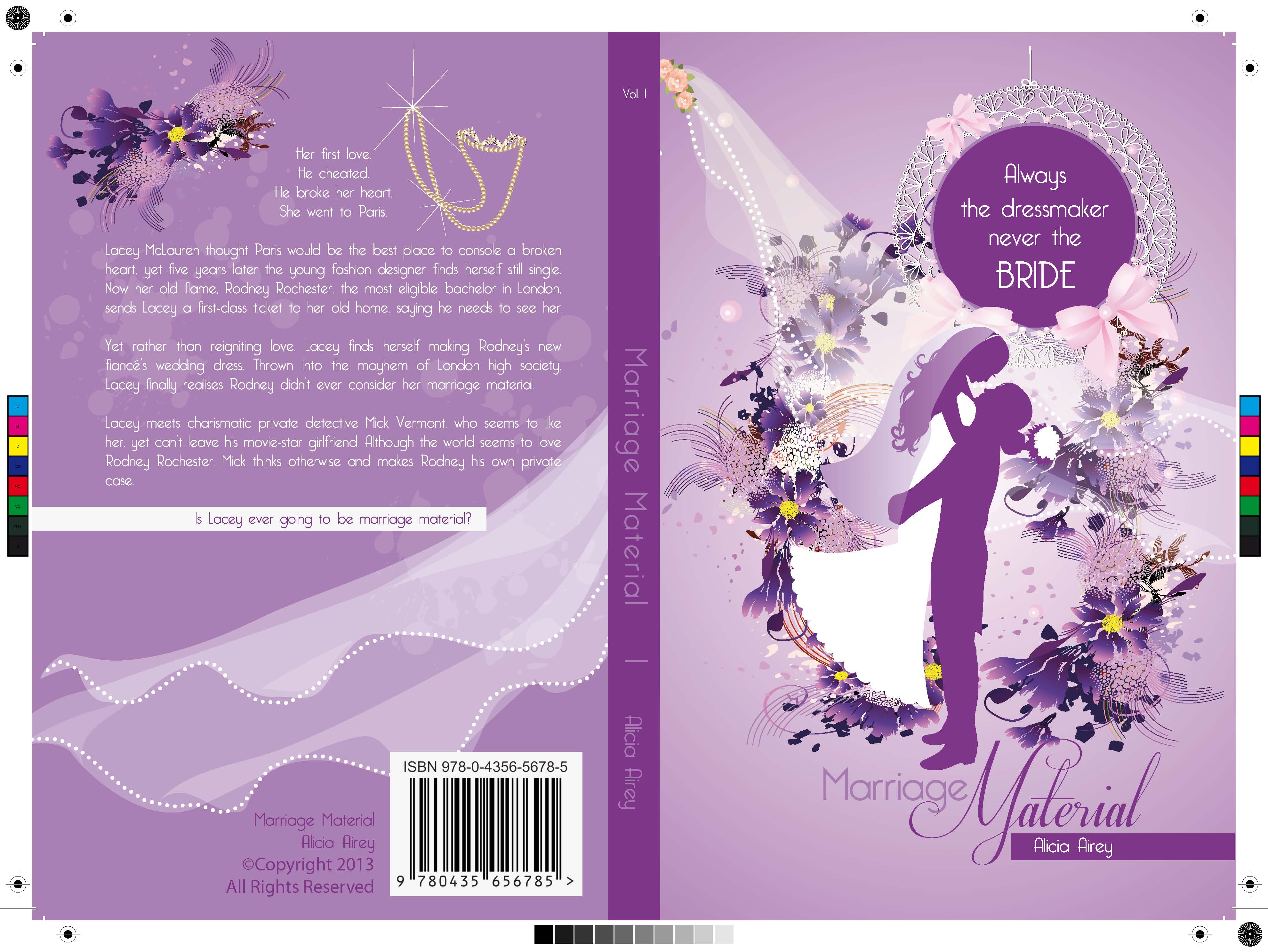 Book Cover Design Materials : Book cover design for chic lit novel marriage material