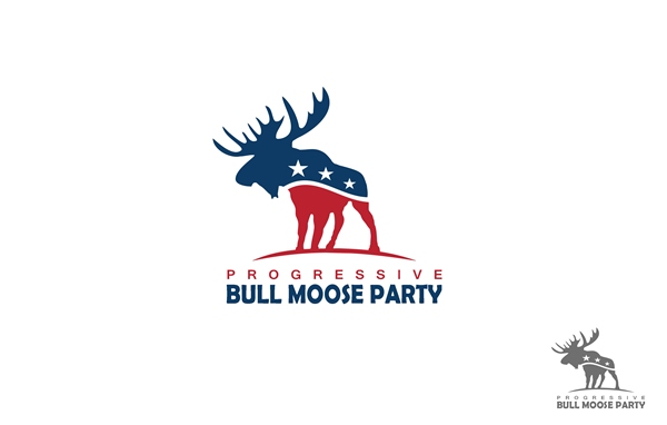 Logo Design by Respati Himawan - Entry No. 17 in the Logo Design Contest Progressive Bull Moose Party Logo Design.