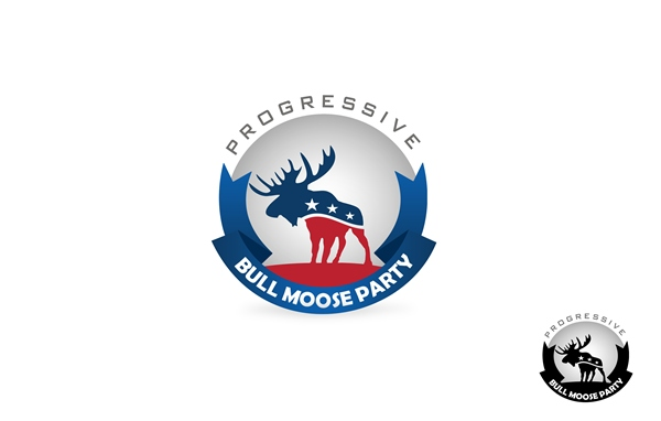 Logo Design by Respati Himawan - Entry No. 19 in the Logo Design Contest Progressive Bull Moose Party Logo Design.